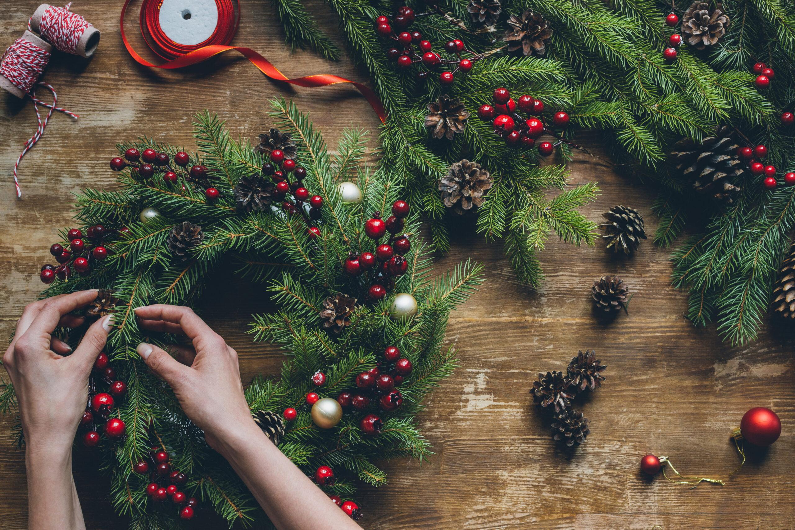 Floristická-dilna-NHK_03- vánoční věnec